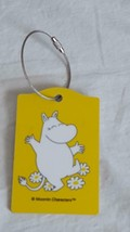 COLLECTIBLE MOOMIN CHARACTER HIPPO LUGGAGE NAME TAG, LAMINATE BIRCH WOOD... - $8.90