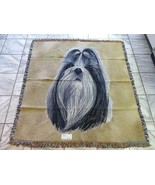 SHIH TZU Dog Woven Tapestry Throw Pure Country Weavers Robert May MINT - $49.49