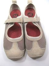 Merrell Taupe Womens Mesh Shoes Size 7.5 M Grey Suede Mary Jane Shoes image 5
