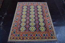 Elegant Afghan hand knotted rug 100% Soft wool / Bohemian decor Decorati... - $404.10