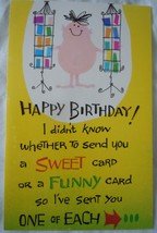 Vintage Fanutrsy Funny Birthday Card 1979 - $3.99
