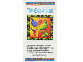 Terry Medaris Art Stamps Adobe Dwelling Scene Unmounted Rubber Stamp image 3