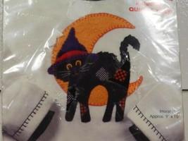 HALLOWEEN Patched Cat & Crescent Moon Felt Fabric Appliques Kit Dimensio... - €8,79 EUR