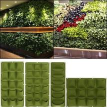 Garden Hanging Plants Bags Indoor Outdoor  Pockets Wall Vertical Grow Fo... - $22.08 CAD+