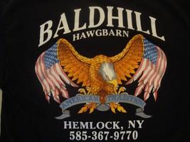 Baldhill Hawgbarn Veterans Biker T Shirt Size L  - $16.82