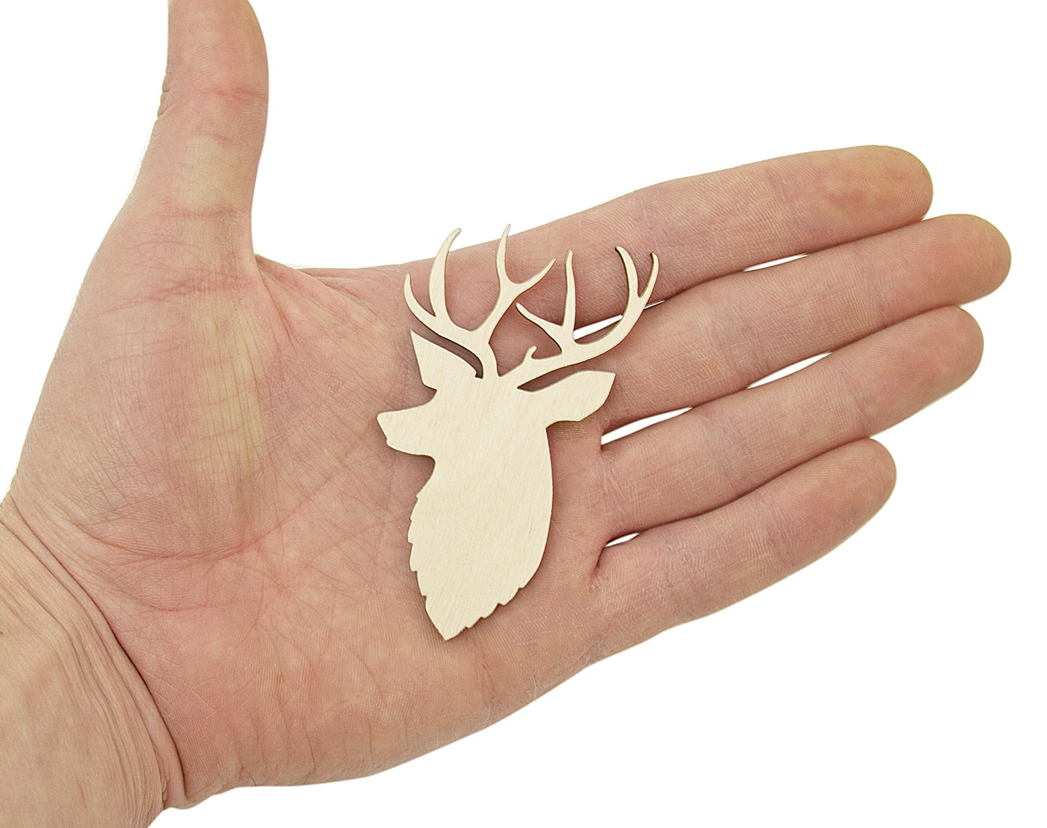 10PCS Wooden Deer Shapes Tags Craft Blanks Wood Embellishment Craft Supplies