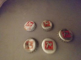 5-- Twist off 7up Bottle Caps (one for King Size) - $12.50