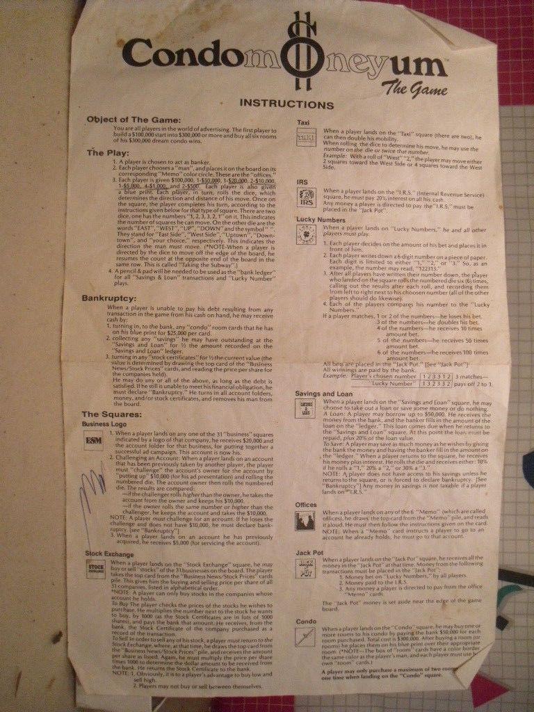 Condomoneyum The Board Game from ESM - 80s Lifestyle image 9