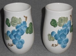 Set (2) Metlox SCULPTURED GRAPE PATTERN 12 oz Tumblers CALIFORNIA - $29.69