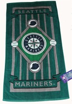 Lic'd Seattle Mariners Baseball Lightweight Beach Towel 30X60 Nwt Disc Yrs Ago