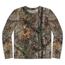 Realtree Xtra Uomo Manica Lunga Cotone Mimetico Caccia T-Shirt - $18.04
