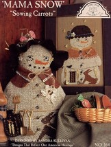 Mama Snow Sowing Carrots Homespun Elegance Cross Stitch Pattern Leaflet - $3.57