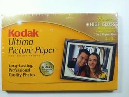 Kodak Ultima Picture Paper for Inkjet Prints High Gloss 20 Sheets Professional - $14.99