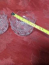 """PAIR OF CANDY DISH WIGGLY EDGE, CIRCLES AND STAR BOTTOM 4"""" X 2"""" image 7"""