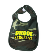 Camo Drool Sergeant Baby Bib Cotton Feeding Apron Burp Cloth Infant Army... - $7.99