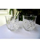 Set of 2 Cris D'Arques Madrigal Pattern Double Old Fashioned Rocks Glasses - $20.79