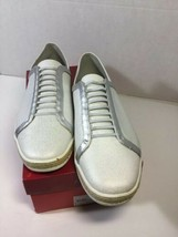 Aerosoles Women's Fun Town Fashion Sneaker, White/Silver 179, 10.5 Med NIB - $31.79