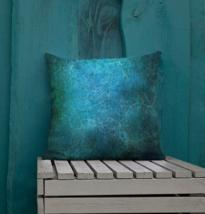 Deep Blue Tie Dye Garden Patio Sofa Decorative Pillow Cushion Vintage  - $23.99+