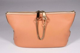 Chloe Camel & Coral Leather Baylee Clutch Handbag Purse - $349.90