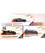 Hot Wheels ID 3 vehicles Night Shifter, Justice League, Arkham Knight Ba... - $18.95