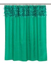 Carnation Home Fashions Jasmine Fabric Shower Curtain in Emerald FSCL-JA... - $48.59 CAD
