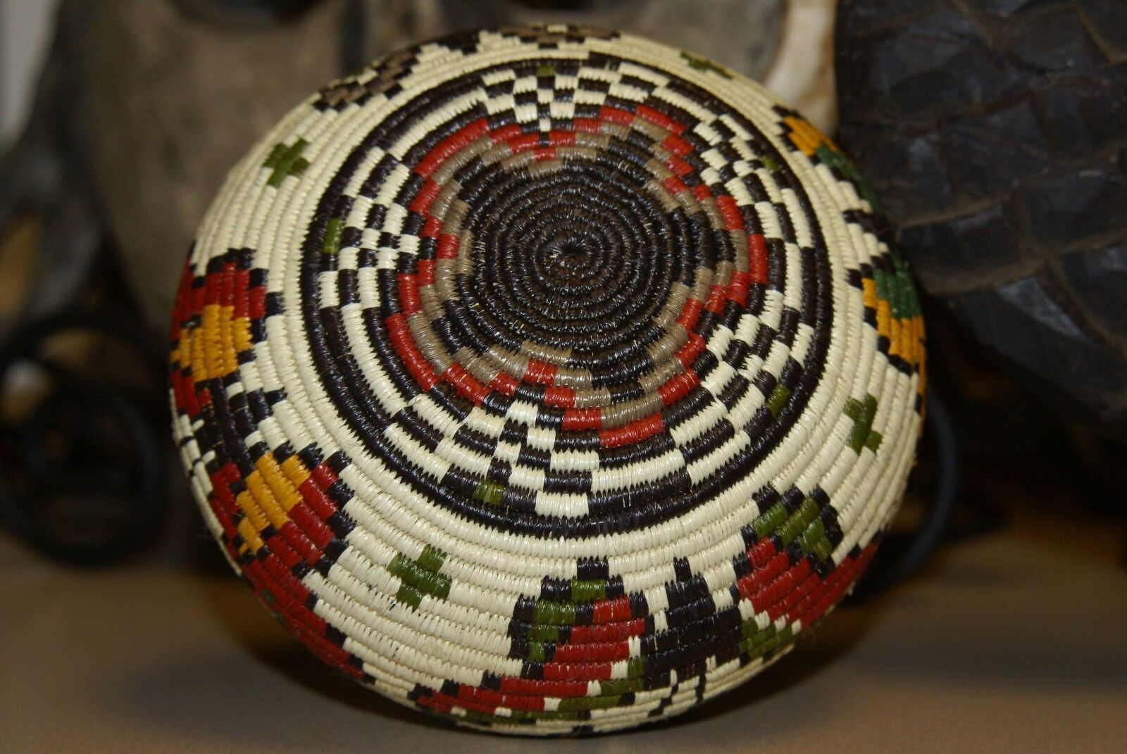 Wounaan Darien Indian Hösig Di Museum Quality Butterfly Artist Basket 300A41