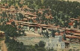 Linen Postcard CO H202 Manitou Cliff Dwellings Phantom Cliff Canon 1952 ... - $7.50