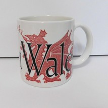 Starbucks Cymru Wales Uk Mug Large Ceramic White Red Dragon - $42.97