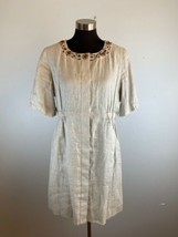 Elie Tahari Womens Dress L Large Beige 100% Linen - $98.99