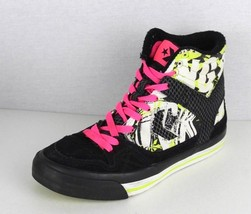 Converse all star women's high top canvas leather sneakers lace up size 6 - $18.48