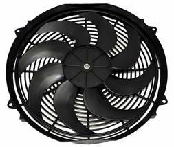 "16"" Electric Curved 8 Blade Reversible Cooling Fan 3000CFM Thermostat Kit image 3"