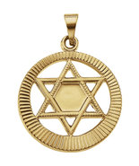 14K Yellow Gold Star of David Pendant - $262.99