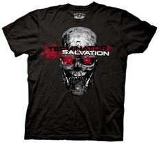 Terminator Salvation Movie Red Eyes Skull Adult T-Shirt - $14.50
