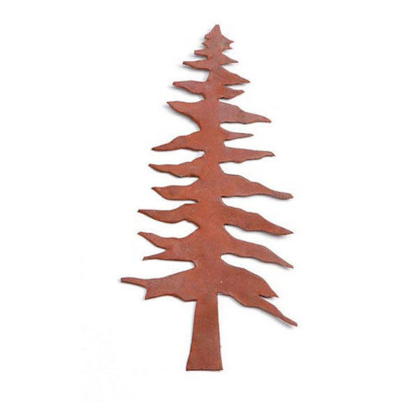 HOLIDAY CRAFT Rusted Tin Pine Tree - 4-1/8 inch - 2 pieces #6554-33