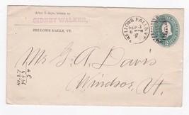 SIDNEY WALKER BELLOWS FALLS, VT SEPTEMBER 3 1887  - $2.98