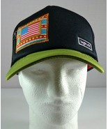 Bigtruck Hat Mens Black Green Trucker Snapback with Flag Patch size b-58 - $39.55