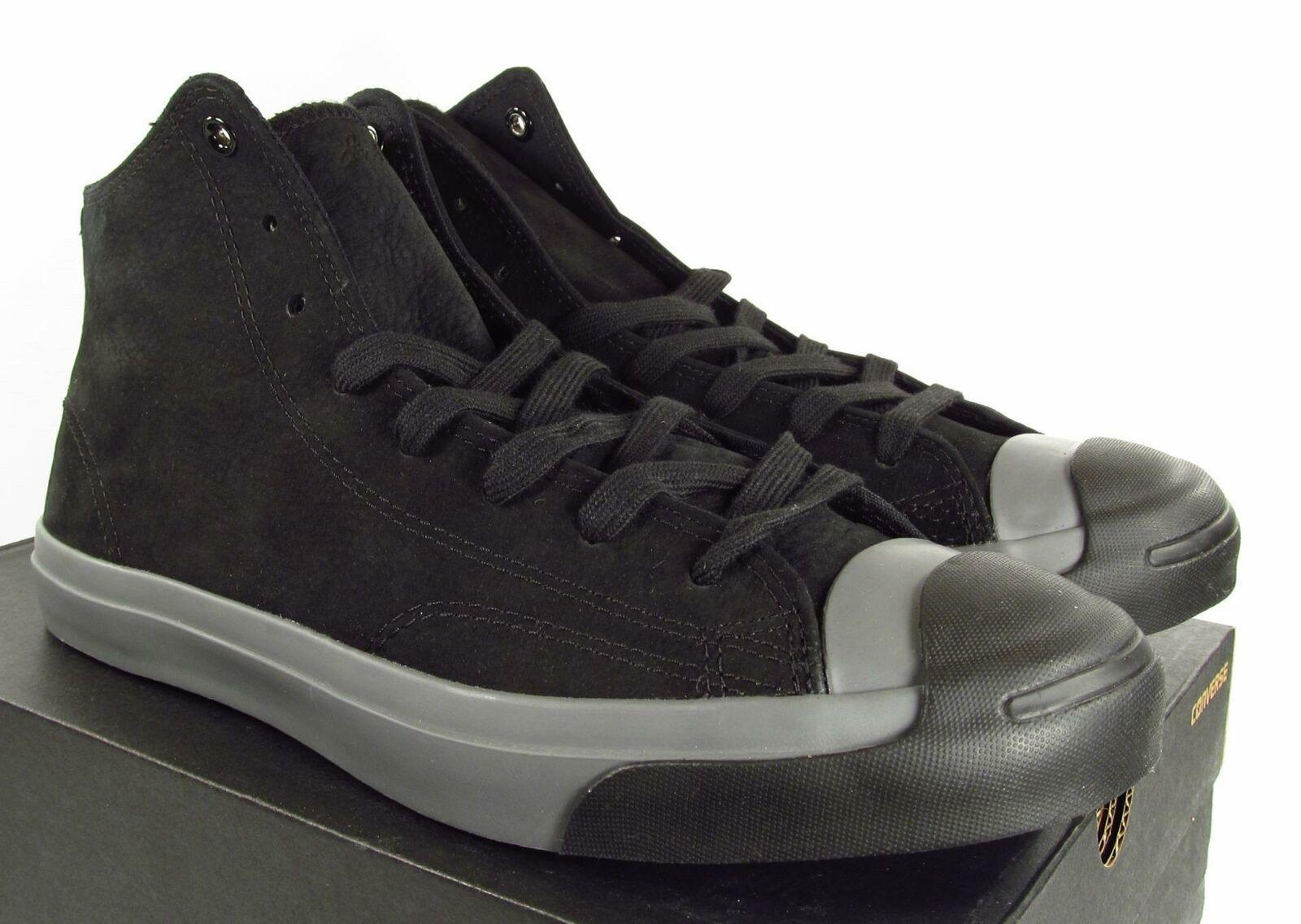 Converse Jack Purcell JP JACK MID Black Suede Leather 149924C (Men's 10.5)