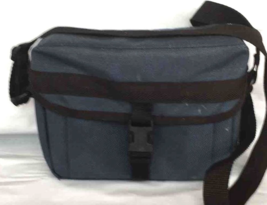 Vivitar Camera Case Equipment Shoulder Bag Blue/Grey Soft Padded - $13.54