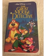 The Adventures of the Great Mouse Detective VHS 1992 Walt Disney classic - $4.99
