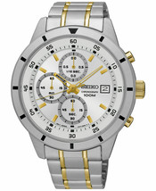 NEW SEIKO SKS563P1,Men's Chronograph,Stainless Steel Case,date,100m WR - $118.45