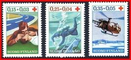 FINLAND 1966 RED CROSS SC#B176-78 MNH MEDICINE, SCUBA, HELICOPTER (E15-7) - $1.23