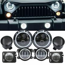 """For 07-17 Jeep Wrangler JK 7"""" LED Headlight Fog Turn Fender Lights Combo... - $108.89"""
