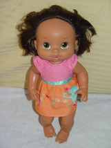 "Hasbro Baby Alive 13"" Doll Drink & Wet Doll 2008 Brown Hair - $24.00"