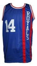 Oscar Robertson #14 Cincinnati Royals Basketball Jersey New Sewn Blue Any Size image 1