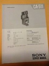 Sony original Service Manual for CA-511 Camera Adaptor - $12.86