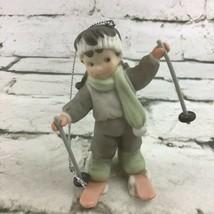 Vintage Alaska Mamma Skier Christmas Ornament #375993 By Enesco - $14.84