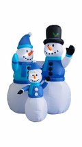 4 Foot Tall Christmas Inflatable Snowmen Family Lights Yard Art Party De... - $69.00