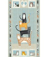 You Had me at Meow~Panel 24'' x 44'' Cotton Fabric by Northcott - $11.53