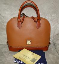 Dooney & Bourke Pebble Leather Zip Zip Satchel CARAMEL image 8