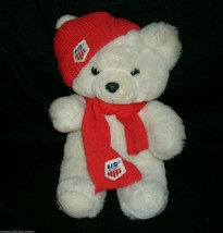 "14"" VINTAGE 1986 COMMONWEALTH WHITE TEDDY BEAR SKI TEAM STUFFED ANIMAL P... - $28.05"